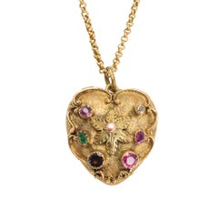 Antique Georgian Regency Period Acrostic Regard Heart Locket