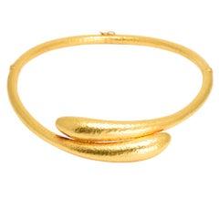 Vintage Ilias Lalaounis 22 Karat Gold Serpents Collar
