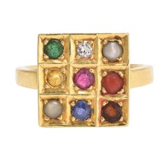 1950s Multi-Gem Navaratna Ring