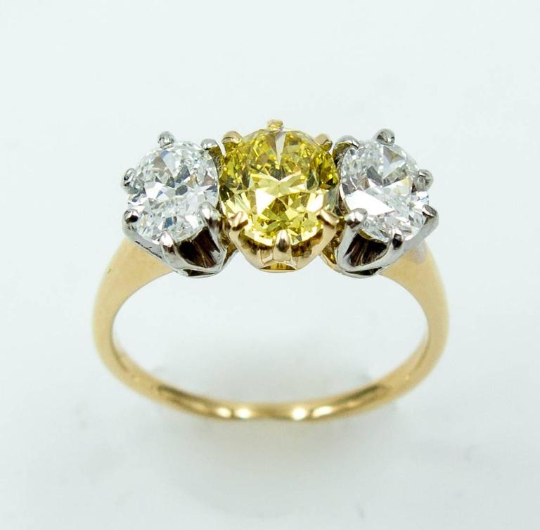 Dazzling GIA Cert Natural Color Fancy Intense Yellow ...
