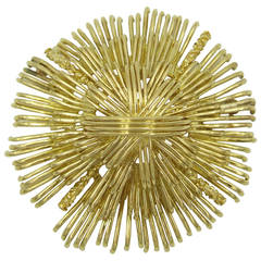Tiffany & Co. Textured Gold Brooch
