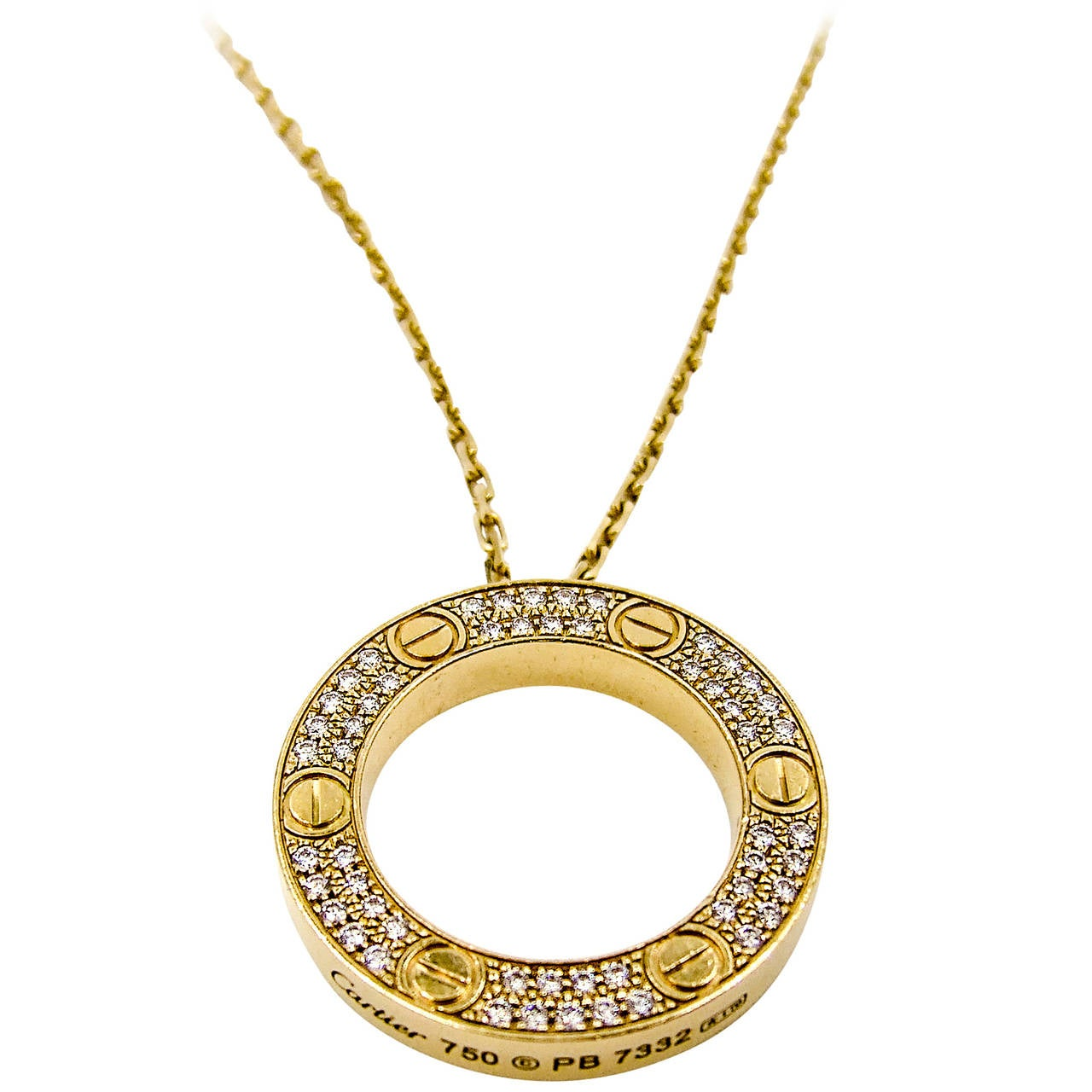 Cartier Aldo Cipullo Gold LOVE Necklace at 1stdibs