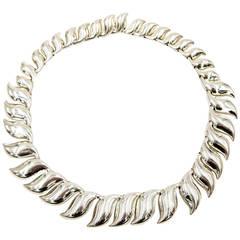 Tiffany & Co. Elsa Peretti Graceful Silver Necklace