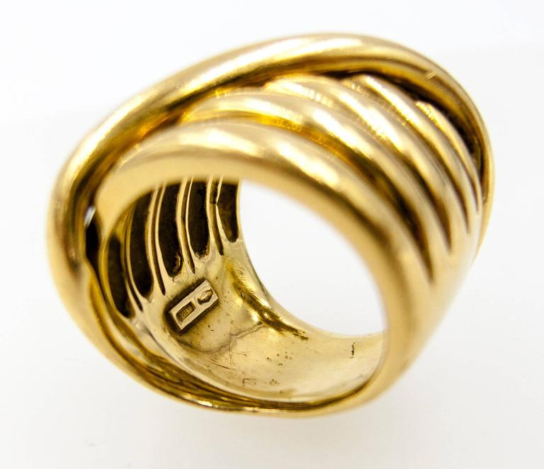 1970s Gucci Italy Gold Coil Ring 4