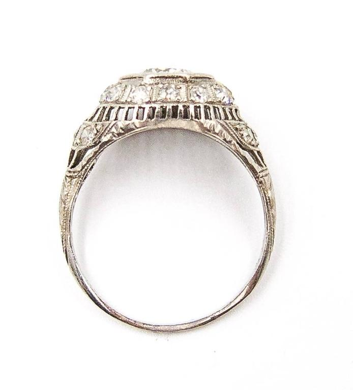 1926 Art Deco Diamond Platinum Engagement Ring 3