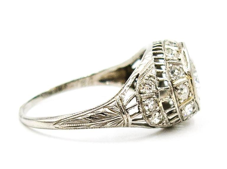 1926 Art Deco Diamond Platinum Engagement Ring 2