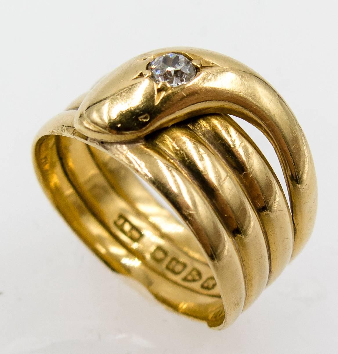 antique gold snake ring for sale at 1stdibs