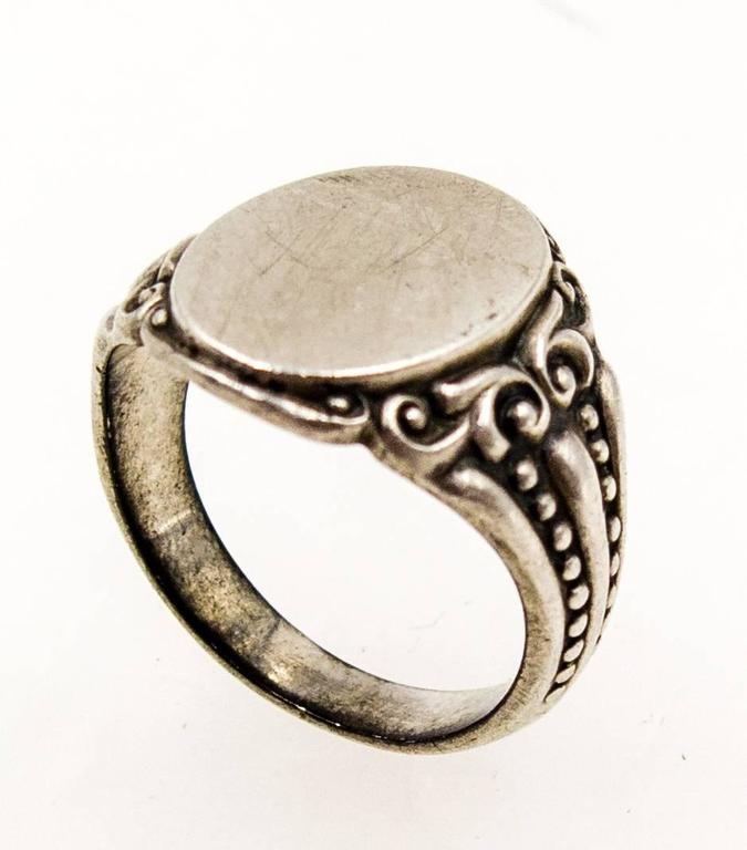 s antique silver signet ring at 1stdibs
