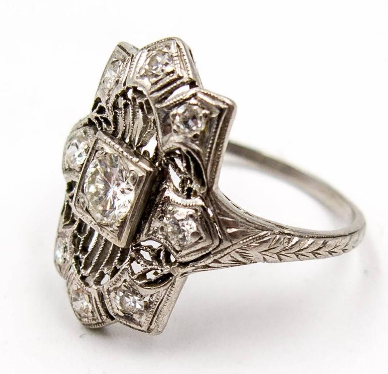 deco unique intricately handworked platinum