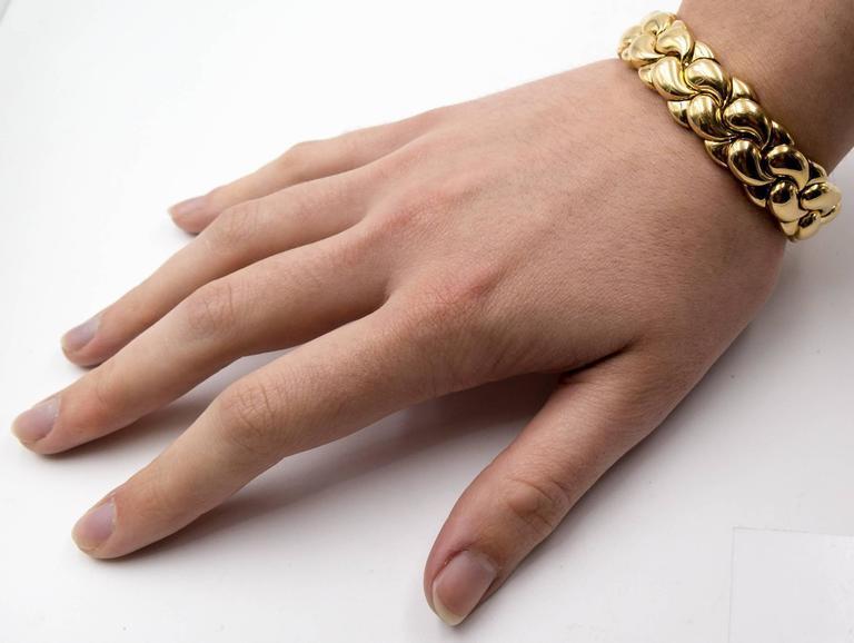 Chopard Paisley Motif Gold Tension Bracelet 7