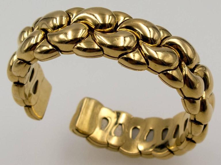 Chopard Paisley Motif Gold Tension Bracelet 2