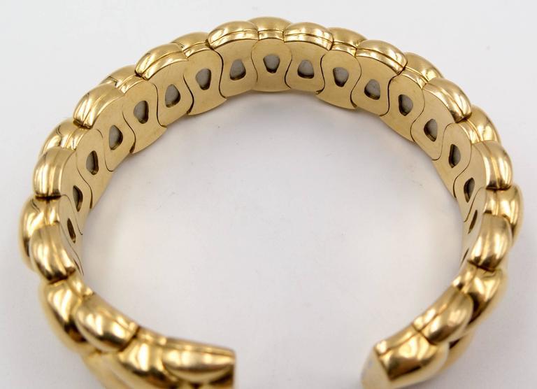 Chopard Paisley Motif Gold Tension Bracelet 4