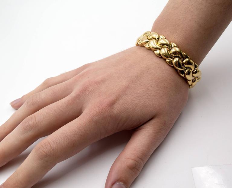 Chopard Paisley Motif Gold Tension Bracelet 5