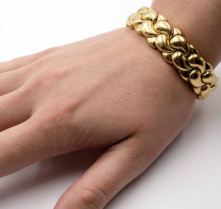 Chopard Paisley Motif Gold Tension Bracelet 6