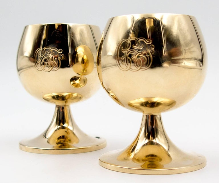 Tiffany & Co Gold Celebration Cups For Sale 3