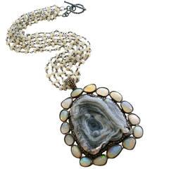 Druzy Rose Diamond Opal Choker Necklace - Chante Necklace