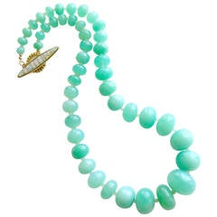 Chrysoprase Opal Matinee Necklace