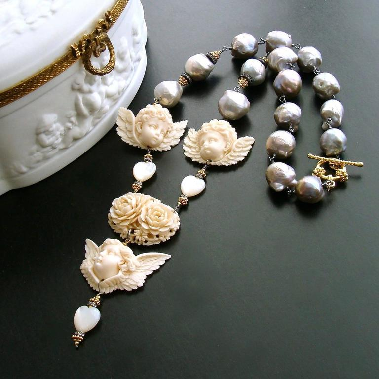 chanel and chiclet baroque item pearls sautoir crystals necklace clear full simulated