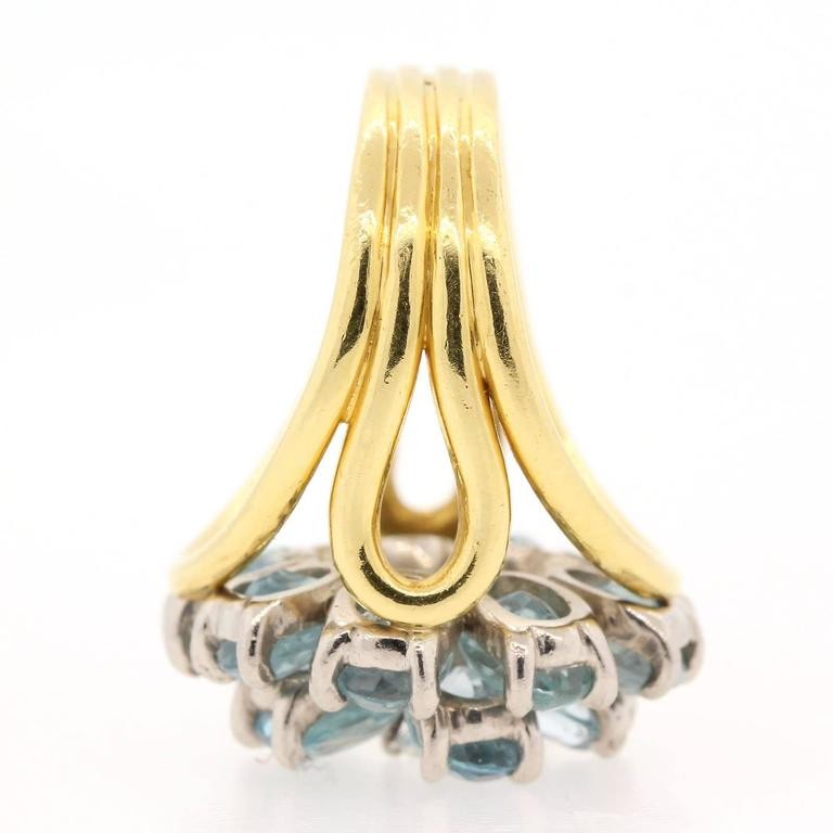 1960s Tiffany & Co. Aquamarine Diamond Gold Ring  4
