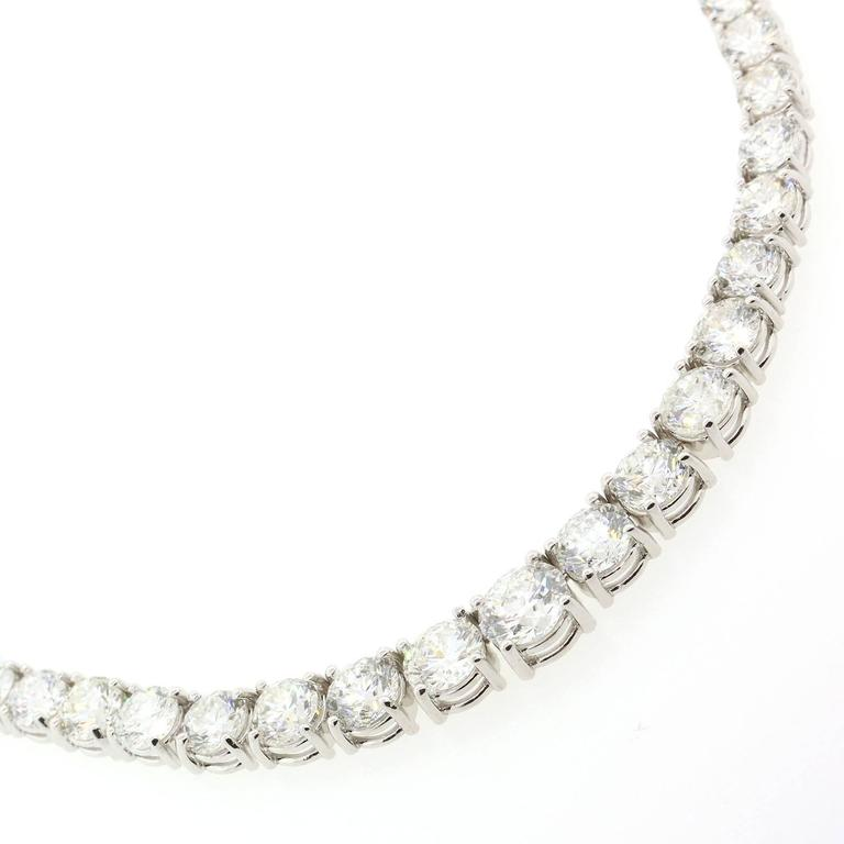 Revival Diamond Gold Riviere Necklace For Sale
