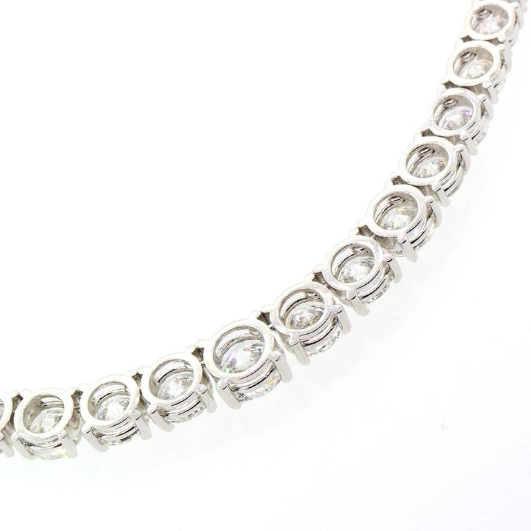 Diamond Gold Riviere Necklace For Sale 1