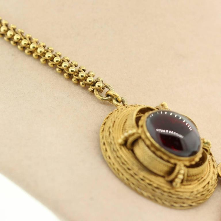 1890s Garnet Gold Victorian Necklace For Sale At 1stdibs