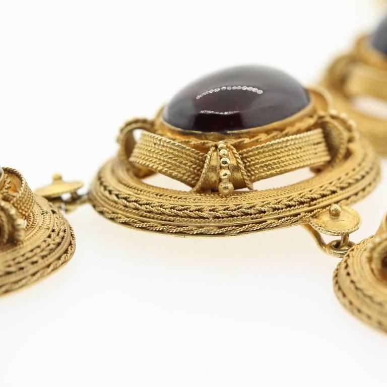 1890s Garnet Gold Victorian Necklace For Sale At 1stdibs