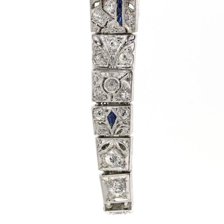 1930s Art Deco Diamond and Platinum Bracelet  In Excellent Condition For Sale In Beverly Hills, CA