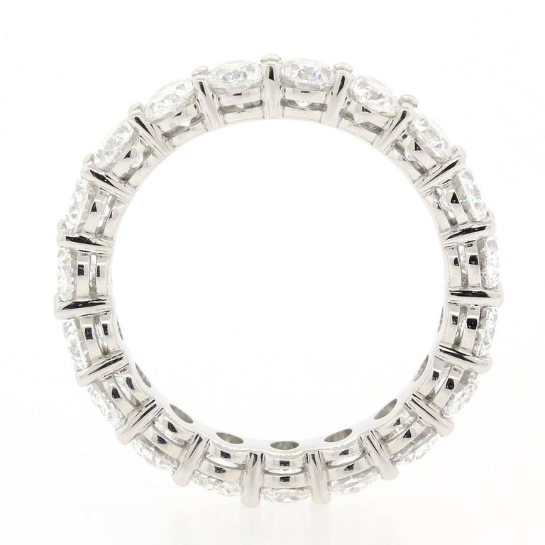 Modern Oval Cut Diamonds and Gold Eternity Band For Sale