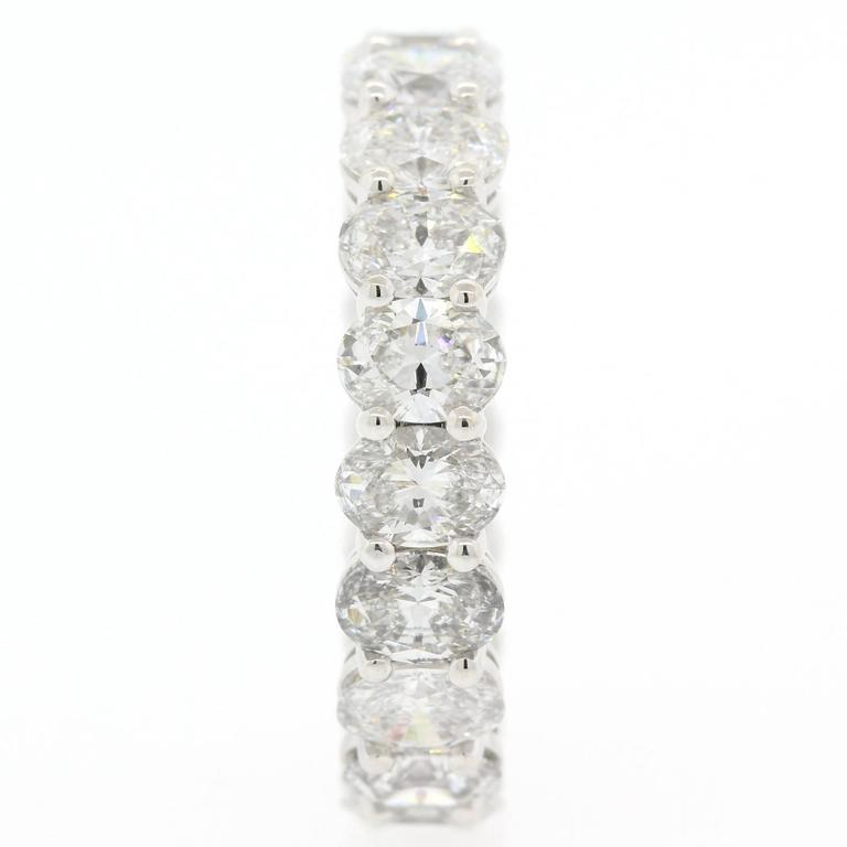Women's Oval Cut Diamonds and Gold Eternity Band For Sale