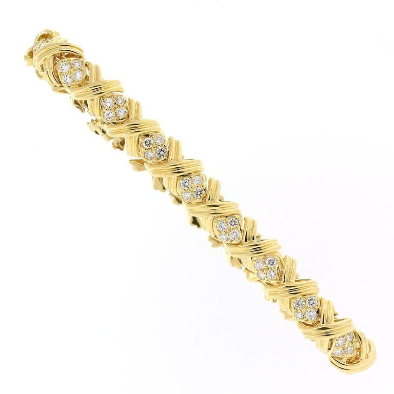 Tiffany & Co. Signature Diamond And Gold Bracelet