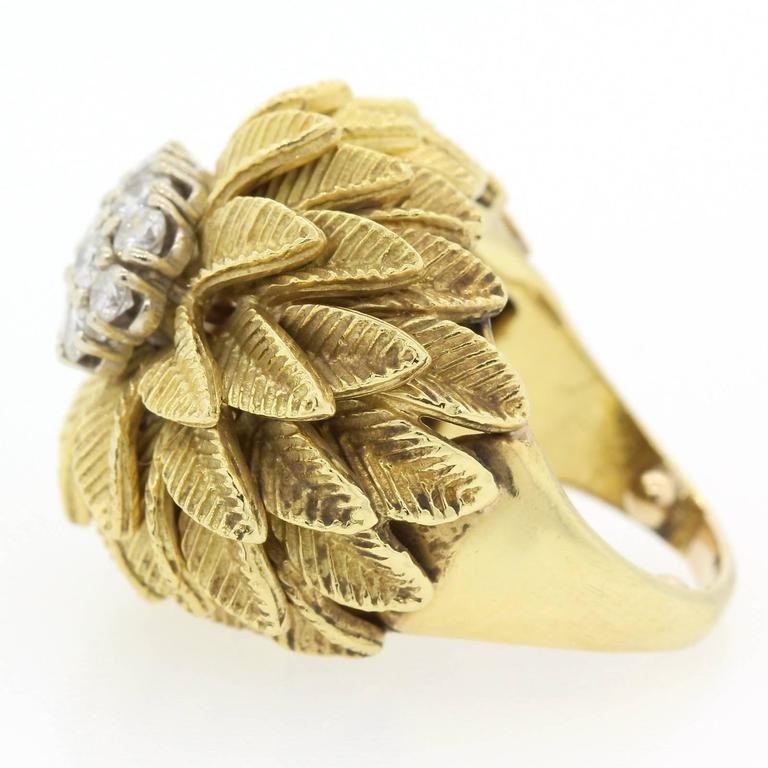 Modern 1960s Diamond Gold Ring For Sale