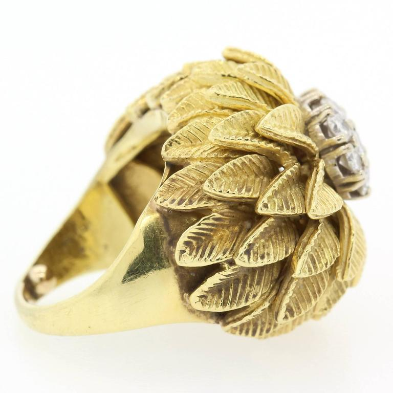 1960s Diamond Gold Ring In Excellent Condition For Sale In Beverly Hills, CA