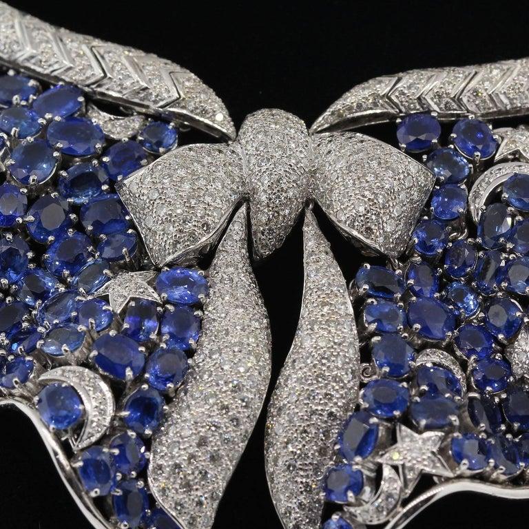 Sapphire Diamond Gold Necklace 3