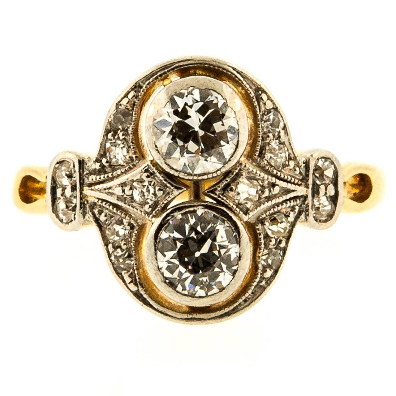 antique platinum gold cluster ring at 1stdibs
