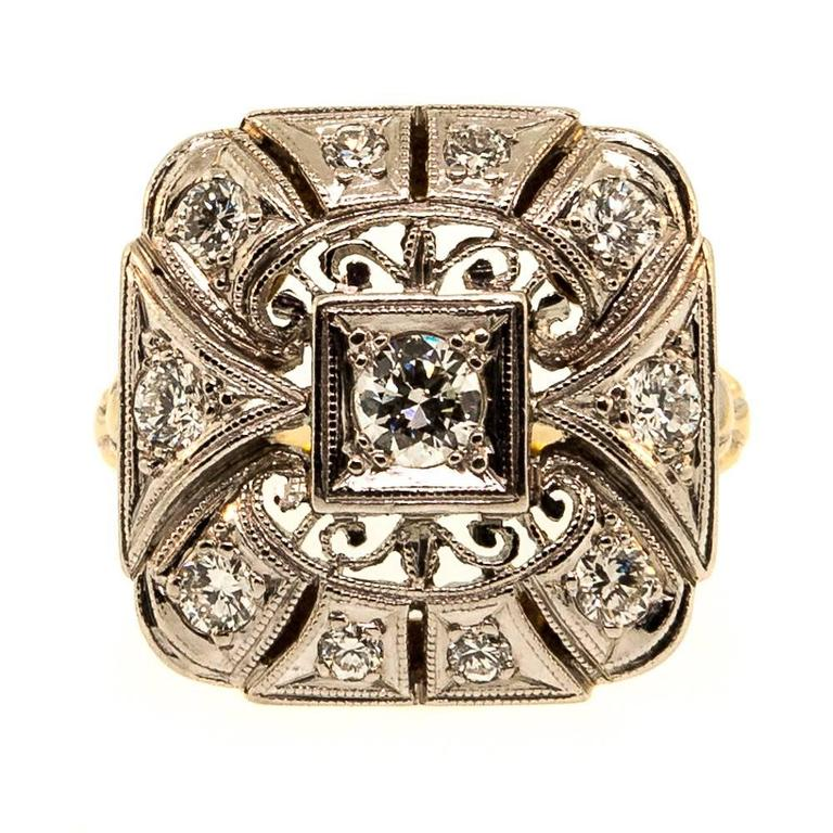 1940s Diamond Palladium Ring 1