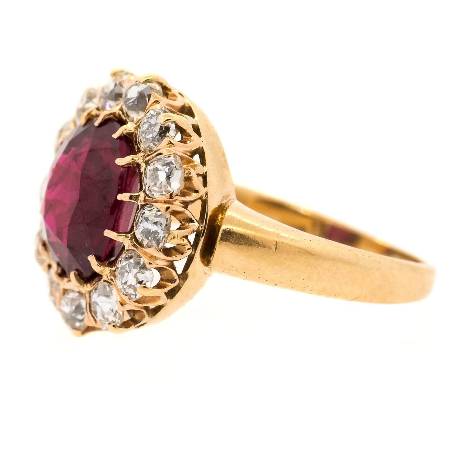 antique ruby and cut gold ring for sale at 1stdibs