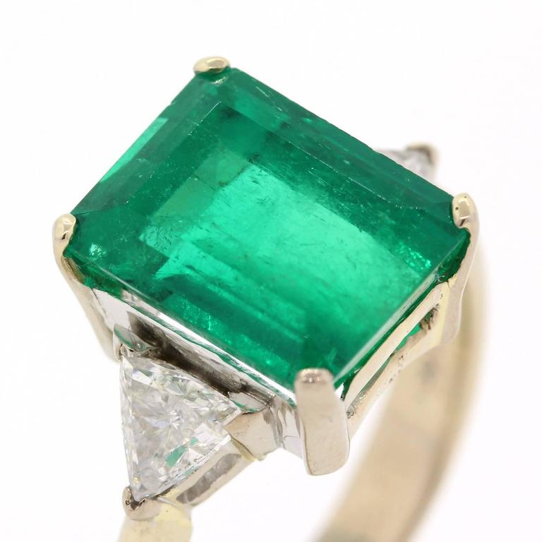 modern 5 35 carat cert emerald gold ring at