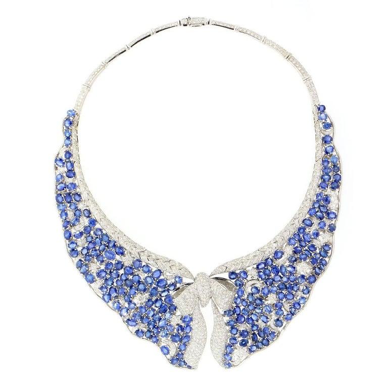 Sapphire Diamond Gold Necklace 1