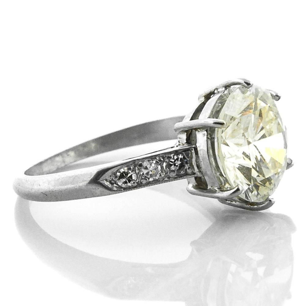 1940s vintage brilliant cut platinum ring at
