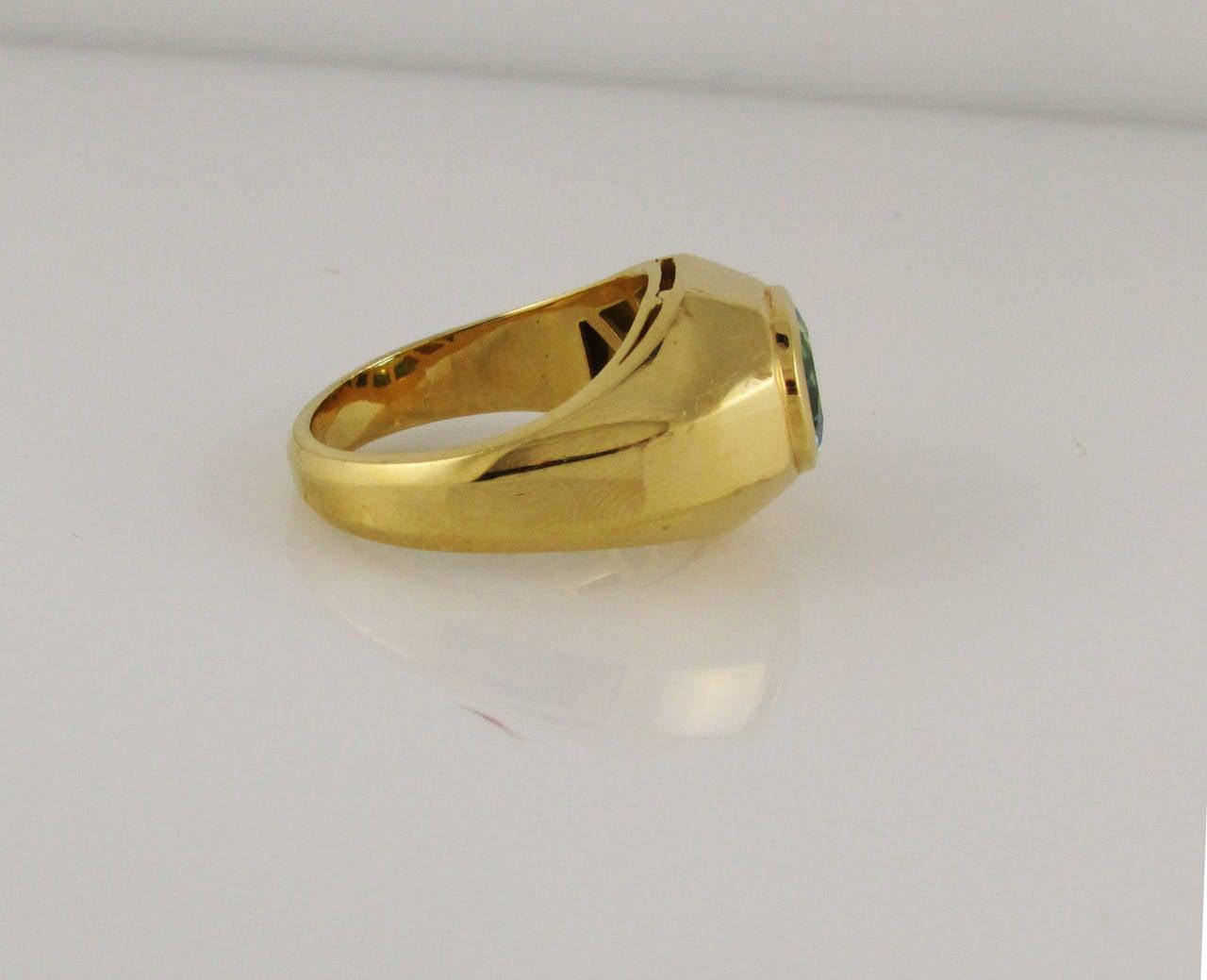 bulgari blue topaz gold ring for sale at 1stdibs