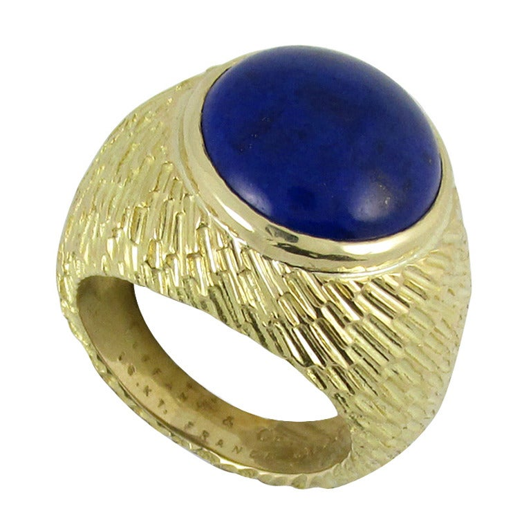 Tiffany & Co. Cabochon Lapis Gold Ring