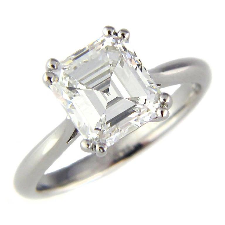 ThreeStone Asscher Diamond Engagement Rings  eBay