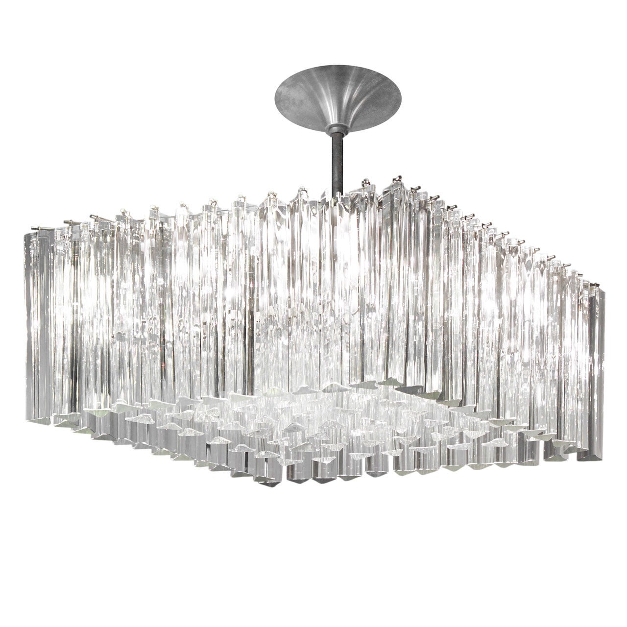 Chandelier with hanging glass rods by venini at 1stdibs aloadofball Image collections