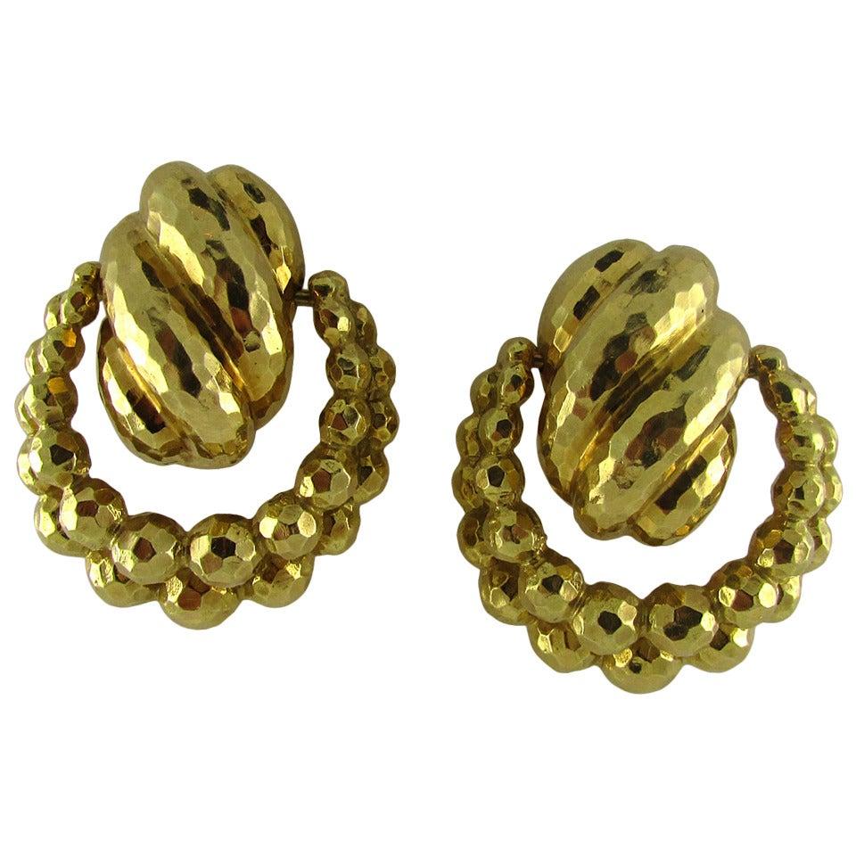 David Webb Doorknocker Earrings