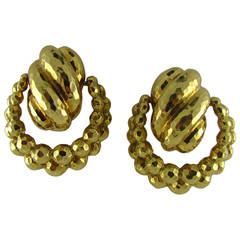 David Webb Doorknocker Earrings