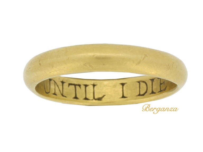 museum quality antique gold posy ring quot my and eye