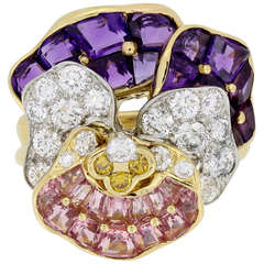 Oscar Heyman Brothers Pansy Ring