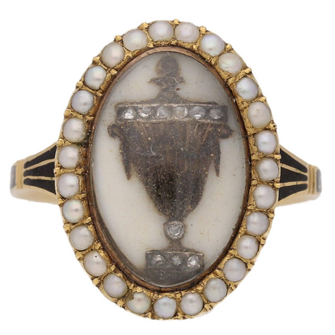 Antique Enamel Pearl Diamond Gold Memorial Ring For Sale. Animal Rings. Burnt Wedding Rings. Right Wedding Rings. 2.15 Carat Wedding Rings. Jhumki Rings. Crossover Band Engagement Rings. Pom Pom Rings. Deer Pearl Flower Wedding Rings