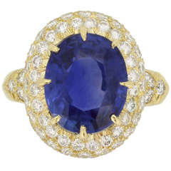 Van Cleef & Arpels Natural Burmese Sapphire and Diamond Ring